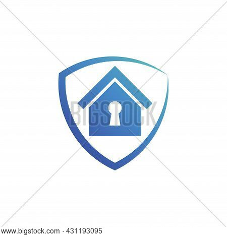 Home Security Icon. Home Vector Isolated On White Background. House Logo. House Vector. Home Illustr