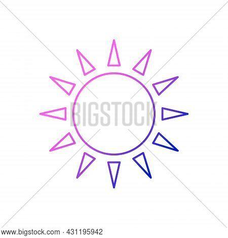Taiwanese Flag Symbol Outline Icon. Taiwan. Oriental Sun. Asian Item. Purple Gradient Symbol. Isolat
