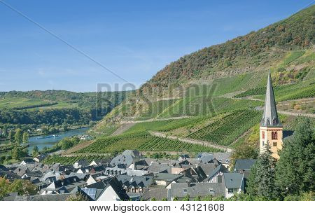 Village of Senheim,Mosel River,Germany