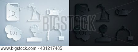 Set Gauge Scale, Canister For Motor Oil, Co2 Emissions In Cloud, Industry Pipe And Valve, Oil Pump P