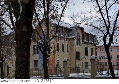 Sofia, Bulgaria -  February 18, 2012: View Of The Beautiful Old Building Of Vasil Aprilov School In