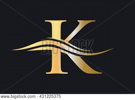 K Logo Template. K Letter With Luxury Concept. Modern K Logo Design For Business And Company Identit