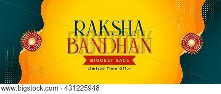 Raksha Bandhan Beautiful Sale Banner Design Vector Illustration