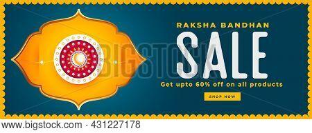 Raksha Bandhan Sale Banner In Indian Style Vector Design Illustration