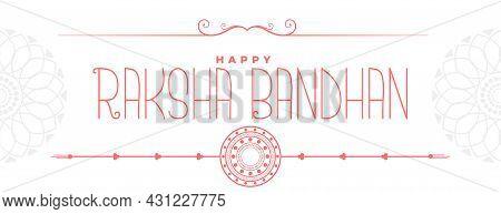 Hand Drawn Raksha Bandhan Banner In Line Style Vector Design Illustration