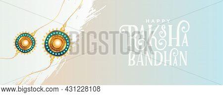 Brother And Sister Festival Of Raksha Bandhan Wishes Banner Vector Design Illustration