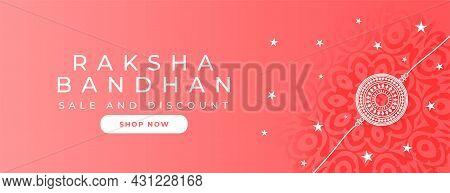 Raksha Bandhan Sale Banner Elegant Vector Design Illustration