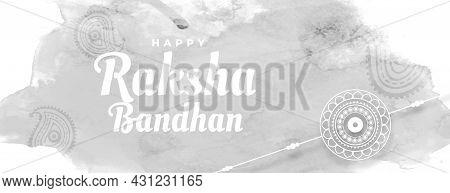 Happy Raksha Bandhan Watercolor Greeting Banner Vector Design Illustration