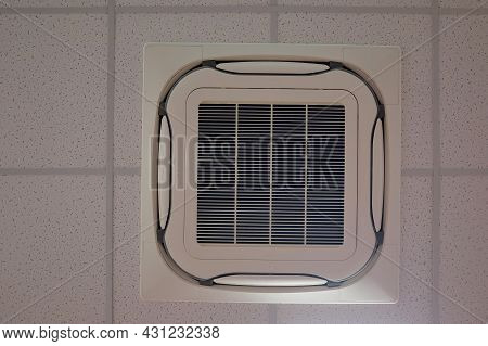 Air Conditioning For Install On Ceiling, Cassette Type Air Condition. Ceiling Air Conditioner.