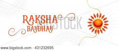 Traditional Raksha Bandhan Sale Banner With Rakhi Design