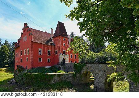 The Red Chateau Cervena Lhota In The The Czech Republic.