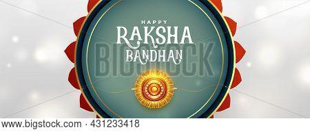 Decorative Raksha Bandhan Banner In Indian Style Vector Design Illustration