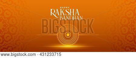 Raksha Bandhan Festival Greeting Banner Vector Design Illustration
