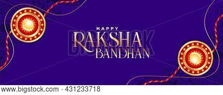 Raksha Bandhan Decorative Festival Banner Vector Design Illustration