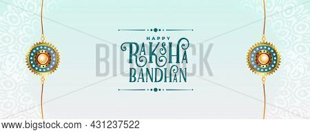 Happy Raksha Bandhan Traditional Festival Banner Design