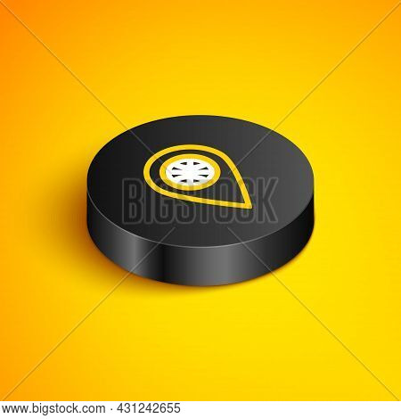 Isometric Line Planning Strategy Concept Icon Isolated On Yellow Background. Basketball Cup Formatio