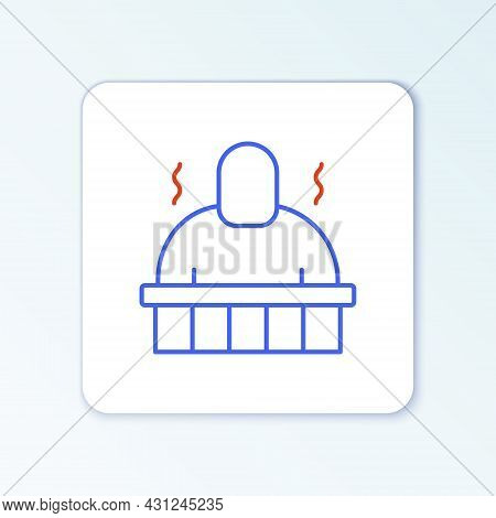 Line Sauna And Spa Procedures Icon Isolated On White Background. Relaxation Body Care And Therapy, A