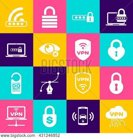 Set Cloud Vpn Interface, Lock, Castle The Shape Of Heart, Password Protection, Invisible Hide And La