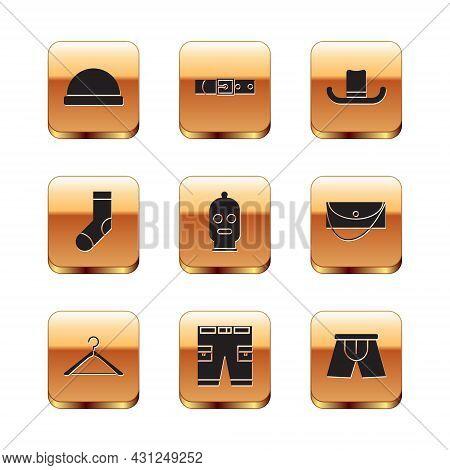 Set Beanie Hat, Hanger Wardrobe, Short Or Pants, Balaclava, Socks, Man, Men Underpants And Leather B