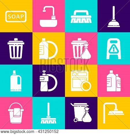 Set Shower Head, Bottles For Cleaning Agent, Wet Floor And Progress, Brush, Dishwashing Liquid Bottl