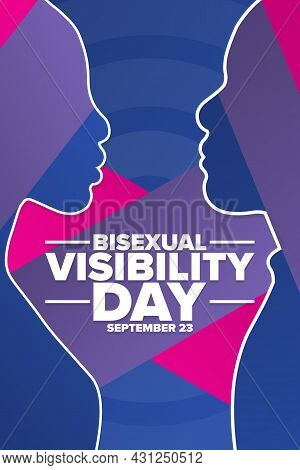 Bisexual Visibility Day. September 23. Holiday Concept. Template For Background, Banner, Card, Poste