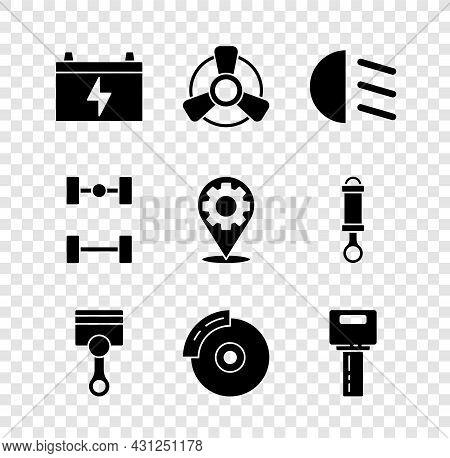 Set Car Battery, Motor Ventilator, High Beam, Engine Piston, Brake Disk With Caliper, Key Remote, Ch