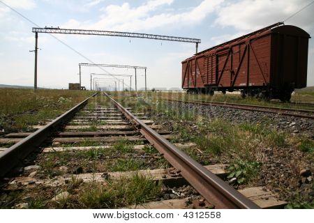 Cargo Car On Rails