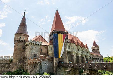 Corvin Castle,or Hunyad Castle Is A Gothic Castle Located In Transylvania, Romania