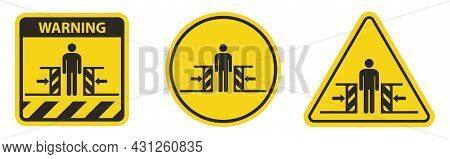 Body Crush Force From Two Sides Symbol Sign