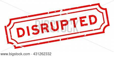 Grunge Red Disrupted Word Rubber Seal Stamp On White Background