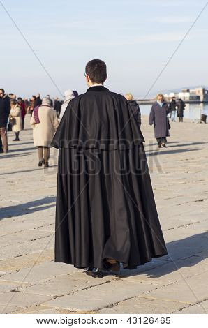 Orthodox Priest In Trieste