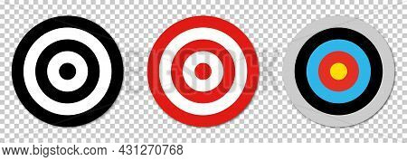Target Icon. Design For Web And Mobile App. Vector Illustration Isolated On Transparent Background