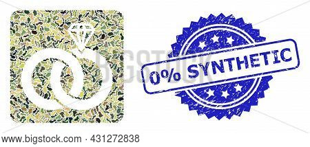 Military Camouflage Collage Of Jewelry Wedding Rings, And 0 Percent Synthetic Corroded Rosette Seal