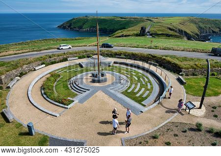 Old Head, Ireland- July 13, 2021: The Lusitania Memorial At Old Head Of Kinsale, County Cork Ireland