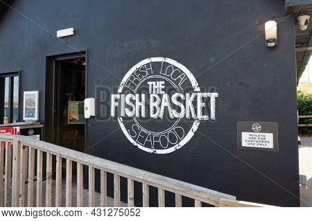 Castlefreke, Ireland- July 13 2021: The. Fish Basket Restaurant In County Cork Ireland