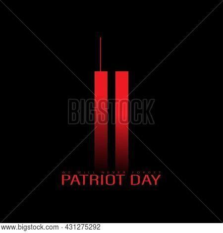 Usa 911 Patriot Day. Minimal Design.
