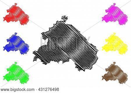Markisch-oderland District (federal Republic Of Germany, Rural District, State Of Brandenburg) Map V