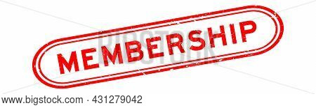 Grunge Red Membership Word Rubber Seal Stamp On White Background