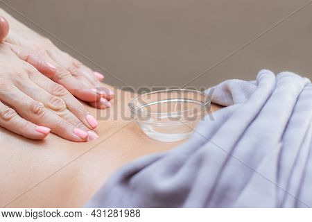 Beautiful Women's Hands Do Massage . Master's Hand. Unrecognizable Model . Massage Room. Spa Procedu