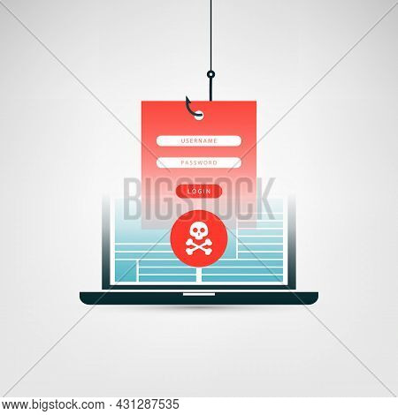Internet Phishing, Account Hacking Attempt - Hacker Activity, Data Theft, Hacked, Stolen Login Crede