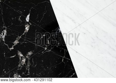 Black smooth marble texture with white streaks