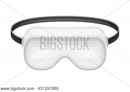 Goggles Or Safety Glasses As Protective Eyewear And Equipment Vector Illustration