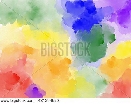 Lgbt Pride Watercolour Background, Illustrator Water Colour Splash Banner For Lgbtq  Backdrop,abstra