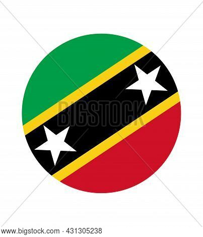 National Saint Kitts And Nevis Flag, Official Colors And Proportion Correctly. National Saint Kitts