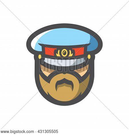 Russia Police Cop Vector Icon Cartoon Illustration.