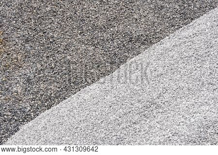 Grey And Dark Grey Two Tone. Gravel Used To Make Concrete , To Mix With Asphalt , To Create Gravel R