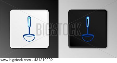 Line Kitchen Ladle Icon Isolated On Grey Background. Cooking Utensil. Cutlery Spoon Sign. Colorful O