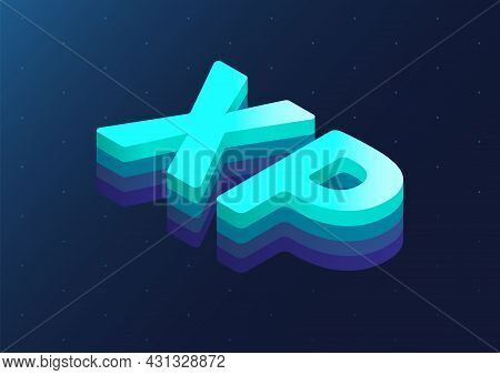 3d Isometric Word Xp As Vector Illustration. Extreme Programming Software Development Methodology Co