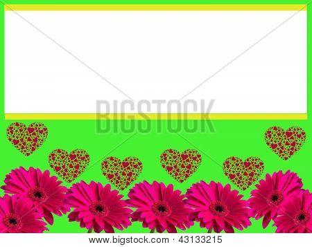 Gerbera flower love frame