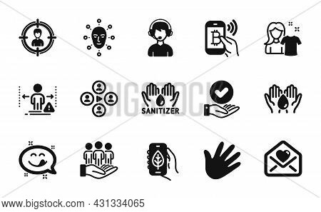 Vector Set Of Ecology App, Video Conference And Love Letter Icons Simple Set. Bitcoin Pay, Social Di